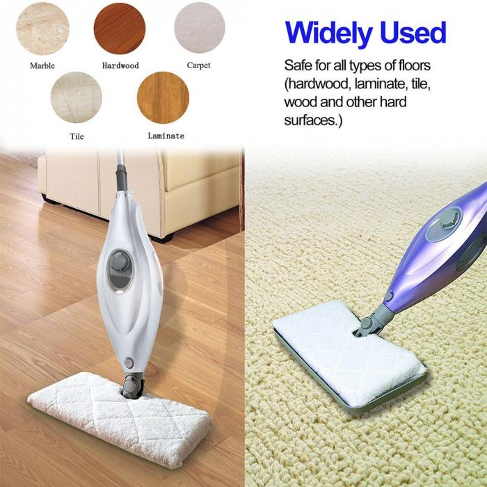 Steam Pocket Mop Pads for Most Hard Flooring Surface Replacement Microfiber Cleaning Pads Set of 2 Mop Pads Washable Microfiber Mop Pads with 3 Layer Mop Cleaning Pads for Light n Easy S3601
