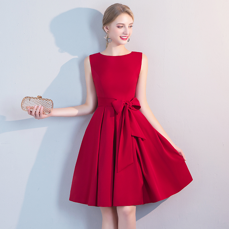 Wine Red Cocktail Dresses Weiyin Women 2019 Sleeveless Short Vestidos Sexy Homecoming Cocktail Dresses LF332