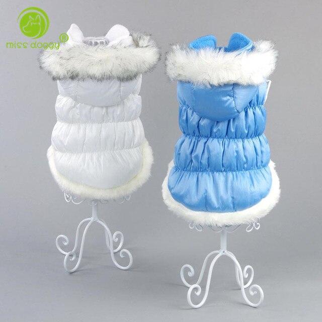 2017 Nuovo Collare della Pelliccia di Modo Del Cappotto Del Cane di Inverno di G