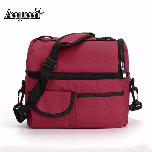 Waterproof Lunch Bags Thermal Insulated Camouflage Women Picnic Storage Bag Polyester PVC Insulation Food Fruit Organizers Cases