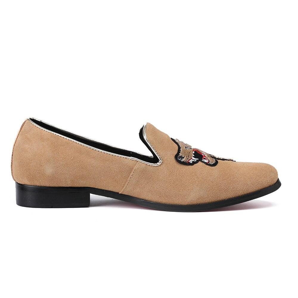 Masculinos Slip Loafers Casual Vestido On Cáqui Festa De Flats Sapatos Casamento Homens Dos Christia Fumadores Moda Da Bella Chinelos Camurça Designer 64xcZwqaH7