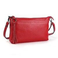 Rindleder-echtes Leder Frauen Messenger Bags Quaste Crossbody Tasche Weibliche Mode Umhängetaschen für frauen Clutch Kleine Handtaschen
