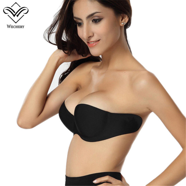 b491d1fcb1420 Bralette Backless Strapless Bra Invisible Bra Adhesive Silicone Bras  Brassiere Push up Sexy Padded Sticky Bras for Women A B C D