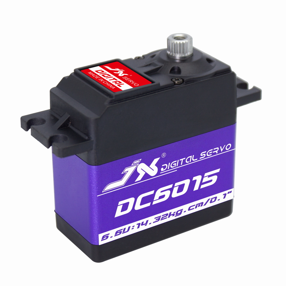 JX DC6015 Servo 15kg Aluminium Shell Metal gear Core Digital Standard core motor for RC plane car new spring rc sm s4315m all metal gear 15kg servo for rc car boat robot high torque dual ball bearing 15kg rc parts 1 jt fci