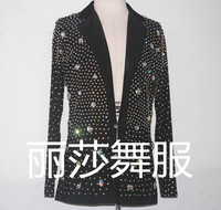 sexy Customize New Ballroom Dance Latin Clothes For Men With Rhinestone