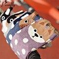Coreia do Novo Padrão Puro Algodão Meias Mulher & meias mulheres Círculo Ponto Meias Meias Desenhos Animados Tridimensionais Meias de Algodão Encantador 3d