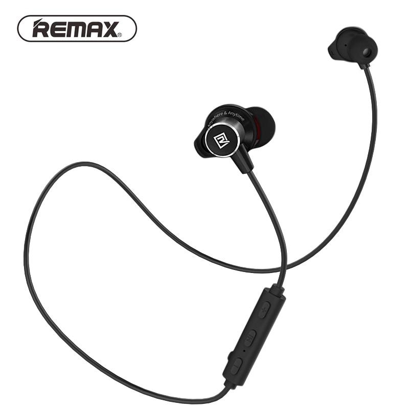 REMAX Sport Lauf in ohr Bluetooth Drahtlose Kopfhörer Magnetische Neckband CVC Noise-reduzieren kopfhörer mit Mic für iphone