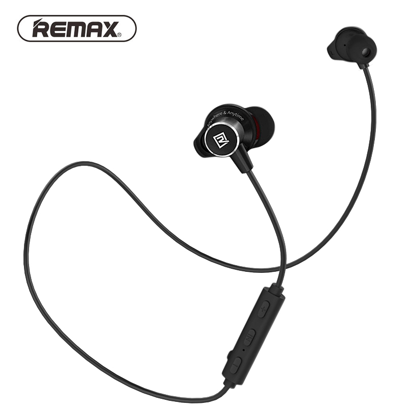 REMAX Sport Running in ear Bluetooth Wireless Earphone Magnetic Neckband CVC Noise-reduce earphone with Mic for iphone remax rm502 wired clear stereo earphones with hd microphone angle in ear earphone noise isolating earhuds for mp3 iphone xiaomi