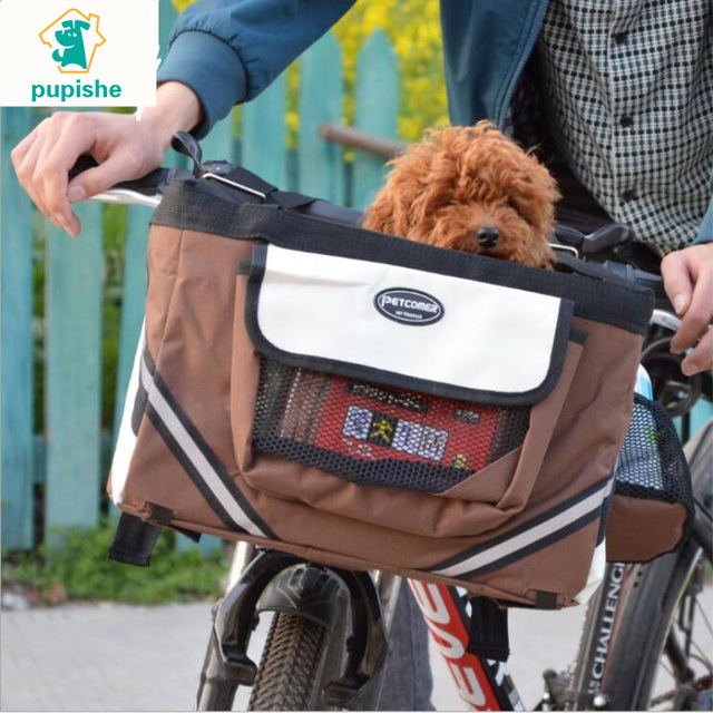 29d8844ea36a US $20.34 45% OFF|PUPISHE Pet dog bicycle carrier bag basket Puppy Dog Cat  Travel bike carrier Seat bag for small dog Products Travel Accessories-in  ...