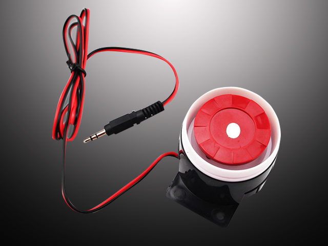 bilder für 120db Wired Mini Sound Alarm Sirene Horn für Alarm System