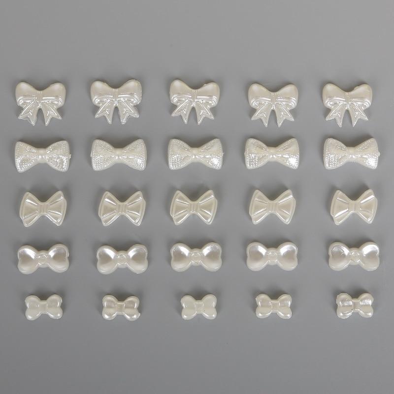 100 шт./пакет галстук-бабочка плоской задней кабошон Imatation Пластик ABS с жемчужным бантом бусы для изготовления ювелирных изделий Craft Домашний телефон украшения DIY