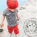 Conjunto de roupas de bebê meninos carton ins T-shirt + calças 2 pcs Infantis conjuntos de roupa do menino da menina da criança pano conjunto de roupas roupas de bebe 3m-2a