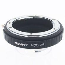 Newyi adaptador para nikon ai f g AF S mout lente para leica m lm l/m câmera nova lente da câmera conversor adaptador anel
