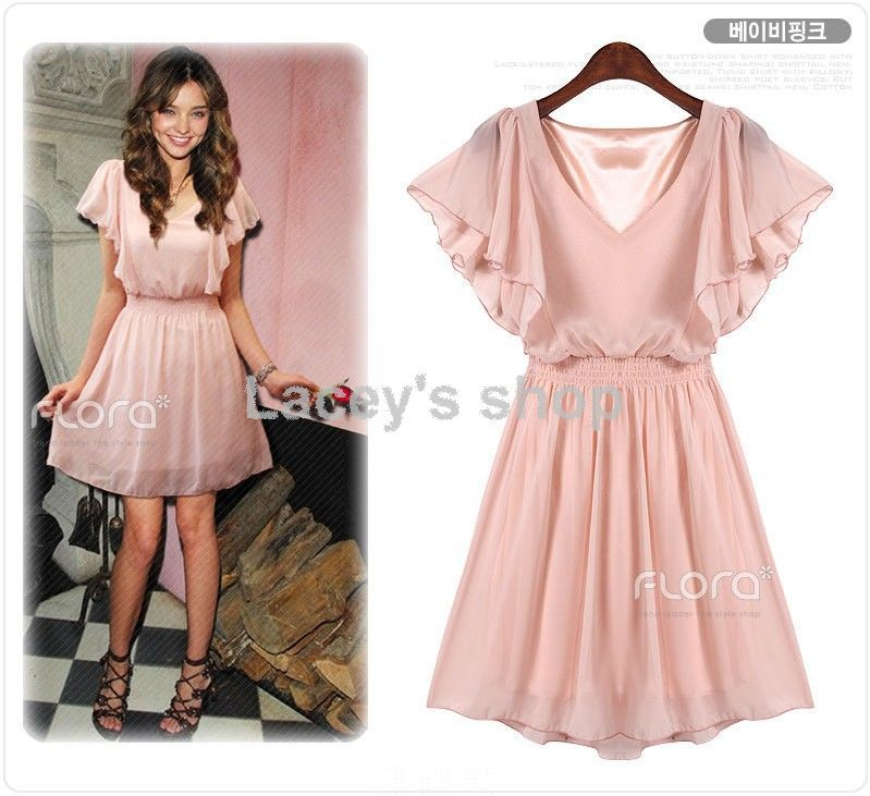 New arrival western style summer chiffon dress black beige pink 3 colors  Free shipping S112 59038c81a