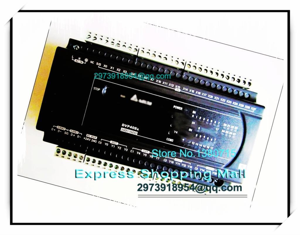 New Original DVP40ES200R Delta PLC ES2 series 100-240VAC 24DI 16DO Relay output new original delta plc eh3 series 100 240vac 24di 16do transistor output dvp48eh00t3