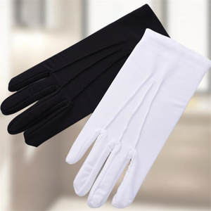 1 Pair Black White Full Finger Hands Men Women Gloves