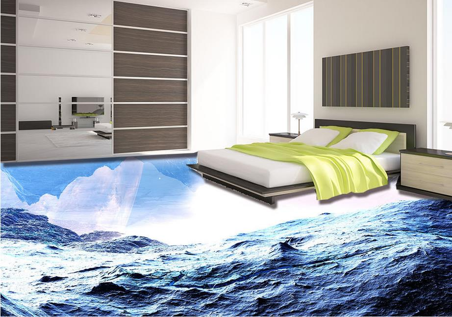 vinyl flooring waterproof custom 3d mural wallpaper