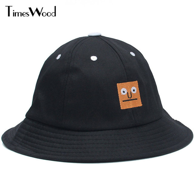 Brand New Funny Cotton Smile Bucket Hat Men Women Hip-Hop Fashion Black  Color Summer Blank Cap Apparel Accessories Dropshipping dad94d3cab7
