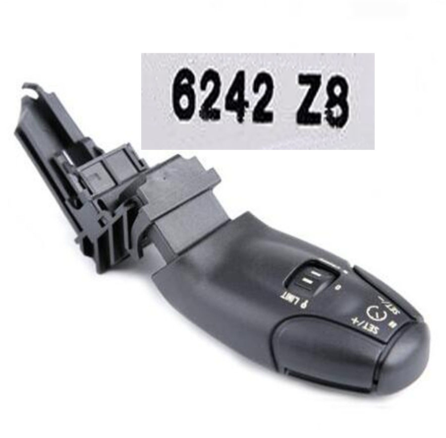 OE#6242Z8 for XSARA C2 C3 C5 for Citroen Cruise Control Switch for Peugeot 307308 408 206 406 407 6073008 Cruise Control Handle