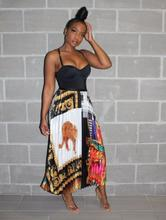 New African fashion leopard print shirt + skirt