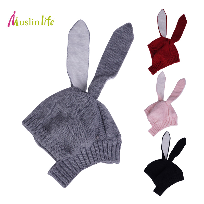 Muslinlife Rabbit Baby Hat Girls,Loverly Autumn Winter Infant Knitted Baby Hat,Rabbit Long Ear Hat Baby Beanie Cap For 0 to 12M