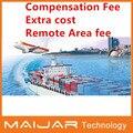 Extra costo shiping libre / compensación honorario de la carga para orden / honorario de área remota