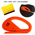 TAOTOP 2 UNIDS 3 M Sentían Escobilla de goma 2 UNIDS 3d de fibra de carbono de corte cuchillo con el mini tamaño abrigo del coche del vinilo aplicación herramienta del cortador de herramientas de instalación