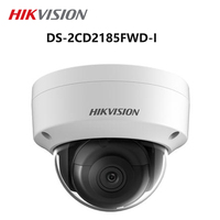 Hikvision English version DS 2CD2185FWD I 8MP Network mini dome security CCTV Camera POE SD card 30m IR H.265+ IP camera