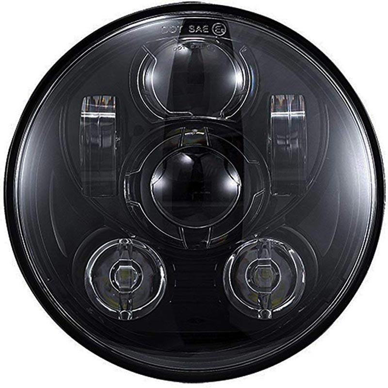 5.75 5 3/4 LED Motorcycle Headlight Black For Harley Sportster 1200 XL1200L Custom XL1200C 883 XL883 883L XL883R 48