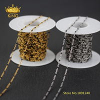 5meters 2mm Tiny Enamel Beads Rosary Chains,Black Enamel Wire Wrapped Plated Gold/Silver Stainless Steel Enamel Dot Chains HX194