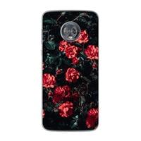 e5 p30 ciciber פרחים ורדים טלפון Case עבור מוטורולה Moto G6 G5 G5S E5 E4 C Z2 Z3 G4 פלוס Play X4 ONE P30 הערה עוצמה רכה TPU Funda (4)