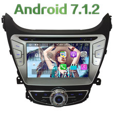 "8"" Quad Core Android 7.1 HD 2GB RAM Multimedia Car DVD Player Radio Stereo GPS Navi For Hyundai Elantra 2014 2015 4G DAB+ WiFi"