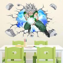 3d de la bola del dragón del pegatinas de pared para habitaciones de niños extraíble ventana falsa de anime de dibujos animados de calcomanías de pared decoración para el hogar
