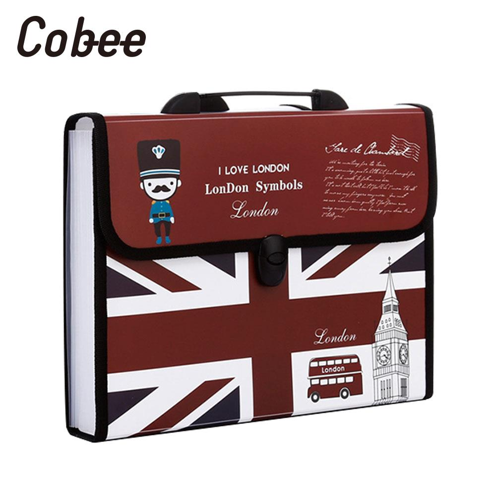 12 Pockets File Folder File Organiser A4 File Bags A4 Paper Portable Documents Multifunctional