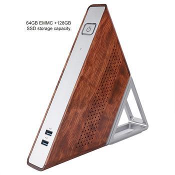 Острый угол мини ПК Intel Apollo lake Celeron N3450 8 GB ram 64 GB EMMC + 128 GB SSD 2,4G 5G Wifi Bluetooth 1000 M LAN Smart tv BOX