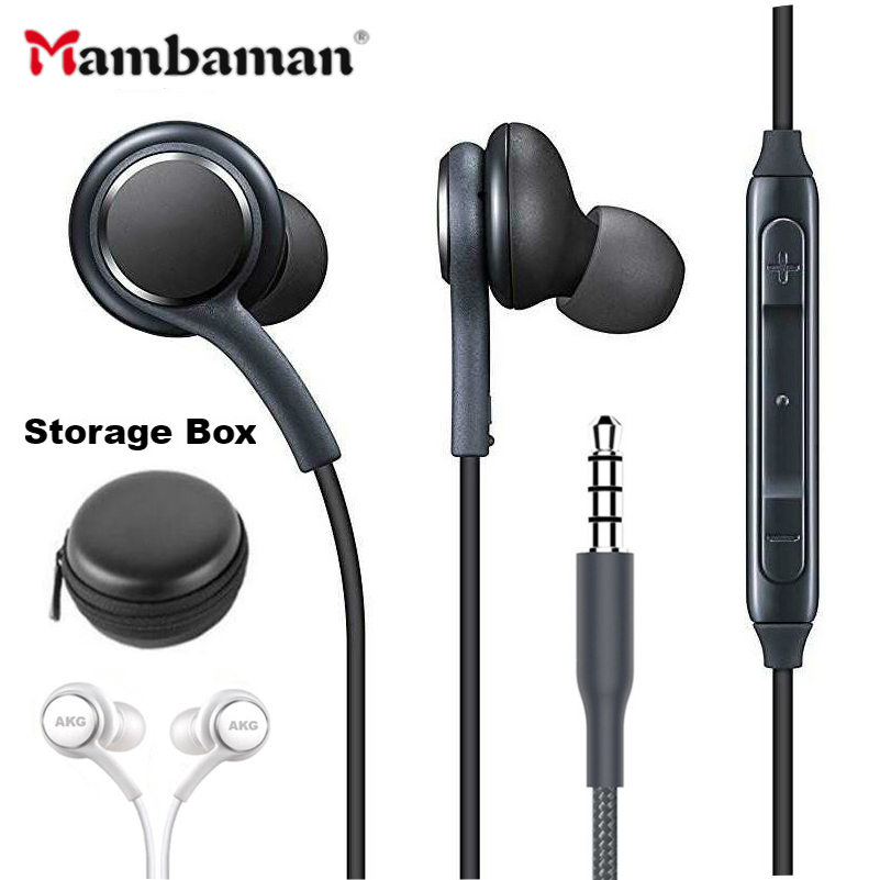 S8 Bass In-ear Earphones Super Clear Ear Buds Earphone Noise isolating Earbud For iphone 6 Xiaomi Samsung S8 S8+ S7 S6 S4 Note 8 necklace