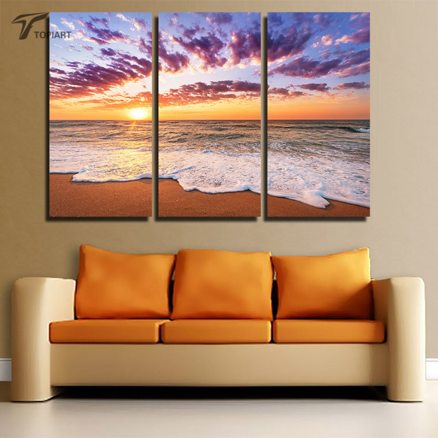 Aliexpress.Com : Buy Canvas Home Decor Beach Wall Decor Painting