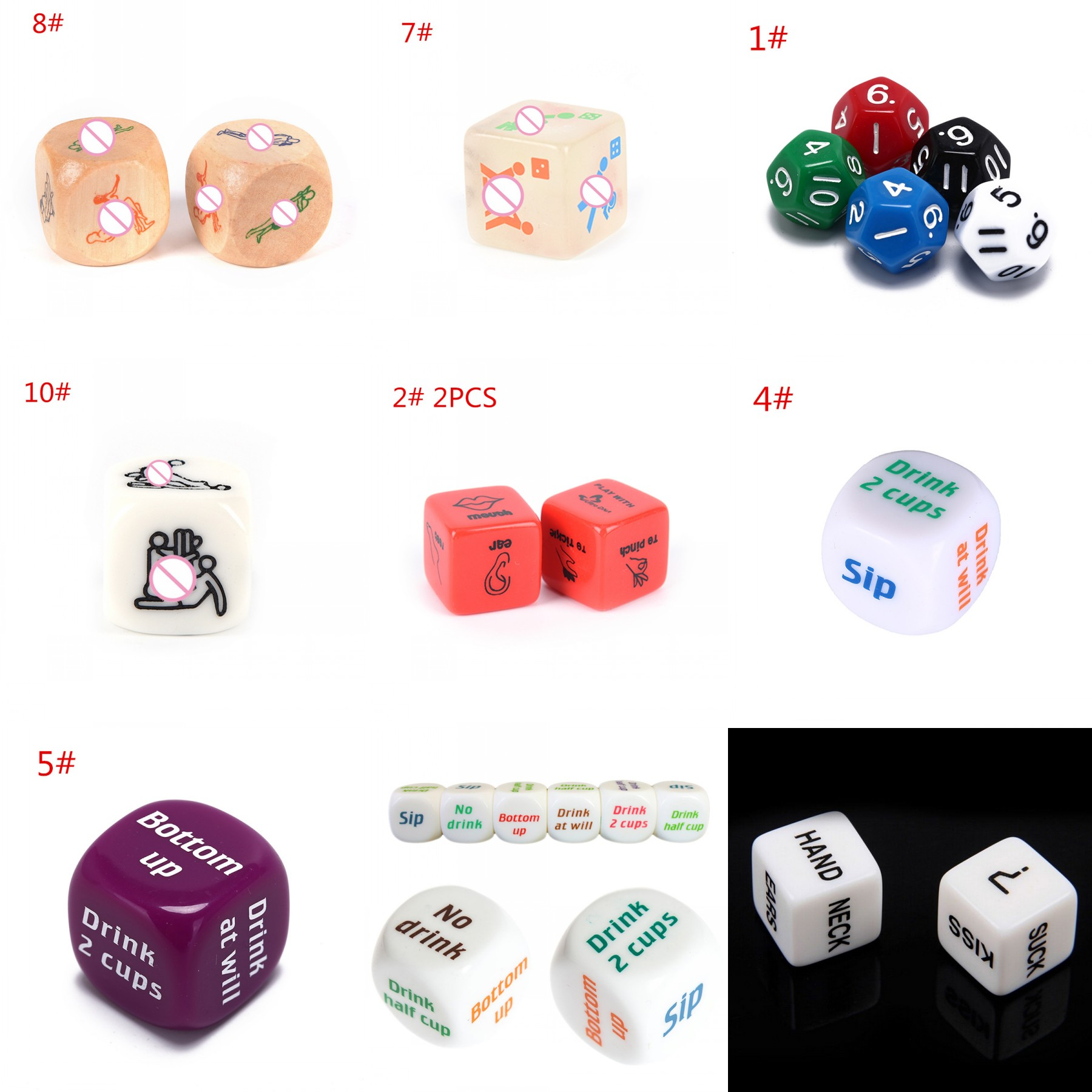 11 Style Sexy 12 Sided Dice Die Positions Romance Love Humour Gambling Adult Games Erotic Craps Pipe Sex Toys For Couples