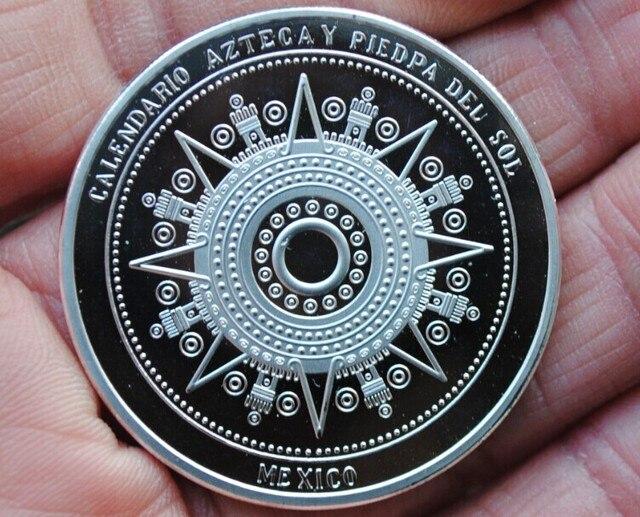 כסף האמריקאי מאיה מקסיקו האצטקית מדליית הנצחה מטבעות מטבע מזכרת הלאומית יפה מתנה הטובה ביותר