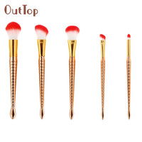 OutTop 5pcs 7pcs 10pcs Make Up Foundation Eyebrow Eyeliner Blush Cosmetic Concealer Brushes Tool A07