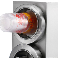 Paper Cup Dispenser Stainless Steel Plastic Cup Holder With 4 Holes Coffee/ Cola Cup Holder