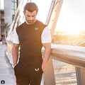 2017 NEW 100% Cotton golds power Gyms clothing Men Shorts Sleeve T-shirt Summer male Tops Tees Fashion Casual Tshirts For Man