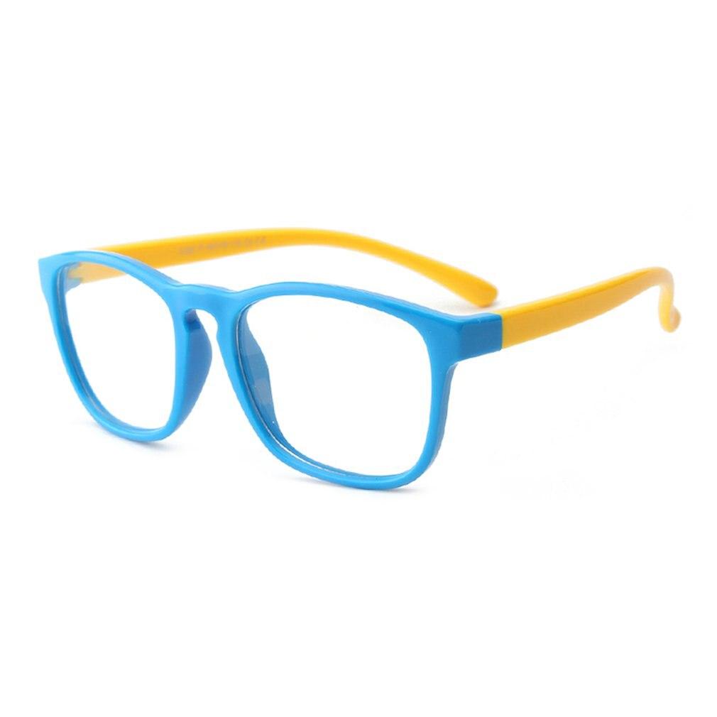 Girl Boy Anti-blue Light Silicone Glasses Brand Children Soft Frame Goggle Plain Glasses Kid Eye Fame Eywear Lentes De Sol Mujer