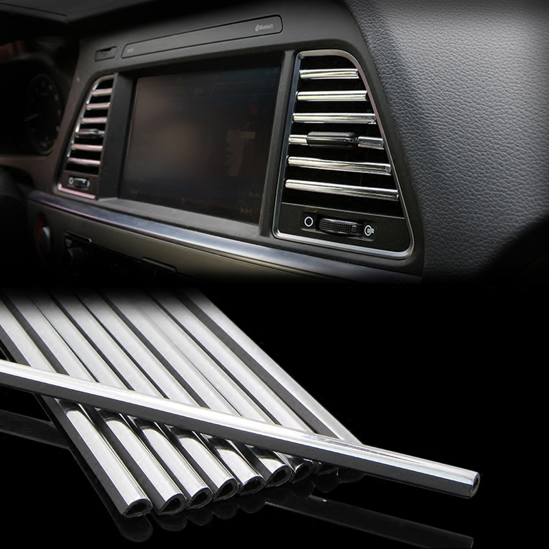 Car Styling Mouldings Interior Air Vent <font><b>Grille</b></font> Protector Strip For Audi A4 A3 Q5 Mercedes <font><b>Benz</b></font> W211 <font><b>W204</b></font> W212 BMW E39 E46 E60 image