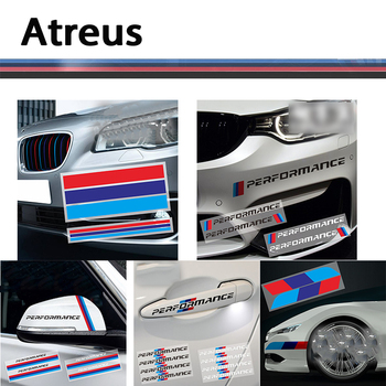 Atreus For BMW E46 E39 E90 E60 F30 F10 E34 X5 E53 E30 F20 E92 E87 M3 M4 M5 X5 X6 Car styling M logo Sport 3 Color 3d Stickers image