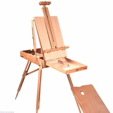 French Easel Wooden Sketch Box Portable Folding Durable Artist Painters TripodST31574