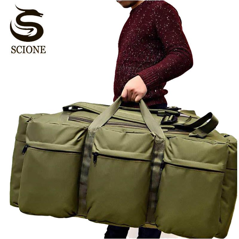 Mens Waterproof Handbag Crossbody Military Travel Bags Multifunction Large Capacity Travel Duffel Bag Male Huge Shoulder Bags
