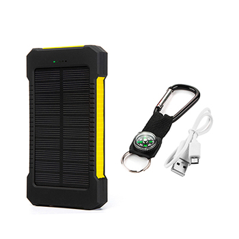 Top Sell Solar Power Bank Waterproof 20000mAh Solar Charger 2 USB Ports External Battery Charger Phone Poverbank with LED Light 10