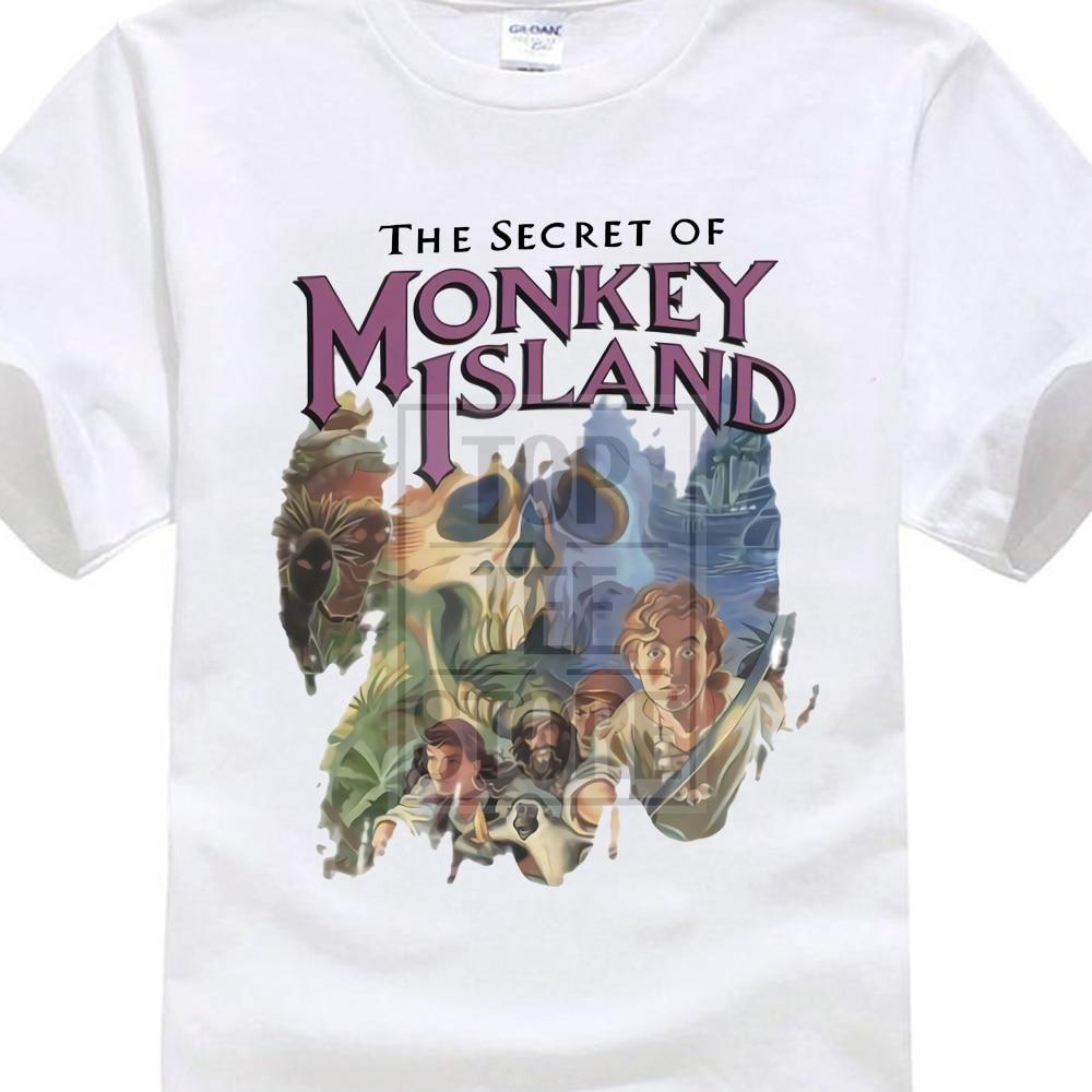 Creative Printed   T     Shirt   The Secret Of Monkey Island Original Cover Guybrush Threepwood Videogame Men   T     Shirt