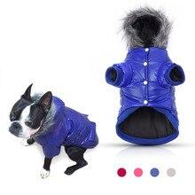 Coolpaw теплое пальто куртка имитация карманов Мех животных отделкой Водонепроницаемый теплые дизайнерские щенок Толстовки Одежда для животных